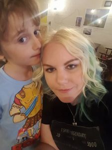 Kat and her son